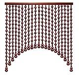 Perlenvorhang Türvorhang PENGFEI Naturholz Vorhänge for Raumteiler Durchgang Retro Trennvorhänge, Breite 60-120 cm (Color : A, Size : 90x80CM-25 Shares)