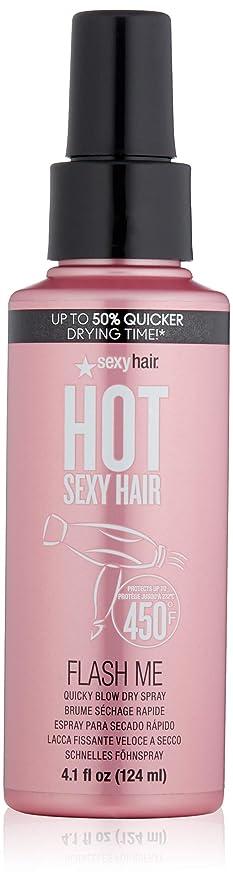 行擁する腐敗セクシーヘアコンセプト Hot Sexy Hair Flash Me Quicky Blow Dry Spray 124ml/4.1oz並行輸入品
