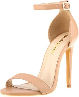 Women's Open Toe Stiletto High Heel Ankle Strap Sandals for Dress Wedding Party Evening Shoes