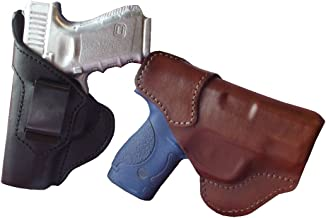 J/&J KIMBER MICRO 9 CRIMSON TRACE LASER GUARD TUCKABLE IWB LEATHER CARRY HOLSTER