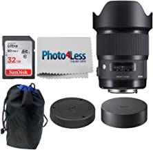 Sigma 20mm F1.4 Art DG HSM Lens for Nikon + 32GB Memory Card + 6