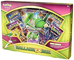 Includes 4 Pokemon TCG booster packs Includes a special oversized card of gallade-ex Comes with a bonus code card for the Pokemon TCG online