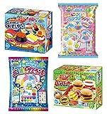 Kracie Popin Cookin DIY Candy Set 4 kits Hamburguesa Sushi Gummy Land Rainbow Jelly Beads
