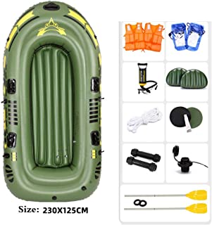BYCDD Tabla de Paddle Surf Hinchable, Portátil Junta Kayak Paddle Plegable Stand up Paddle Board Conjunto de Jóvenes y Adultos Que se colocan Barco,A_230X125CM