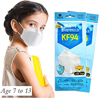 WELLPURE KF94 Kids (Small size), 4 layer protection, 100% Made in Korea, Comfortable breathing, Daily disposable