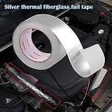 Sporacingrts 1.9(in) x 82(FT) Aluminum Fiberglass Air Intake Tube Heat Shield Adhesive Backed Heat Barrier