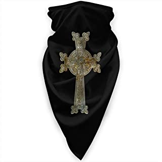 Religion Icon Armenian Cross Neck Gaiter Warmer Windproof Face Mask Scarf Outdoor Sports Mask