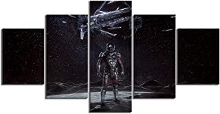 WSJXY 5 Canvas Paintings Wall Art Framed 5 Piece Canvas Paintings Mass Effect Andromeda Game Poster Artwork Wall Paintings for Home Decor Wall Art