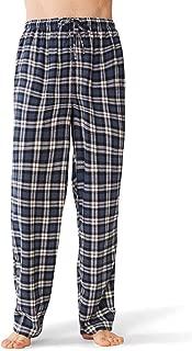 Flannel Pajama Pants for Men, Soft Cotton Plaid Sleepwear Loungewear Bottoms