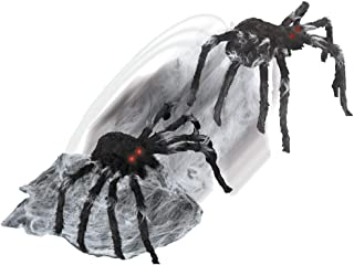Creepy Jumping Black Spider Horror Theme Party Halloween Decoration Prop