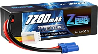 Zeee 4S 14.8V 7200mAh 80C RC LiPo Battery Hard Case with EC5 Connector for RC Buggy Truggy Crawler Monster Car Boat Truck