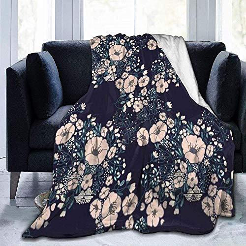 HUA JIE Adecuada para Sofá o Cama Jardín Verde Flores abstractas Colorido Vintage Primavera Patrón Hermosa Belleza Retro Flor de floración, para sofás/Sillas/Sofá