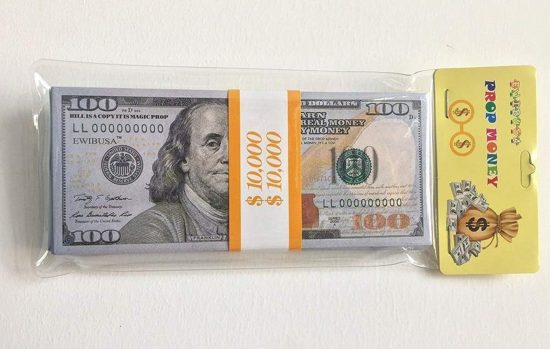 Ewinusa 100dollar Us Magic Props 100 Piece A Bundle Play Money Magic Props Money Dollar Total 100 Pc