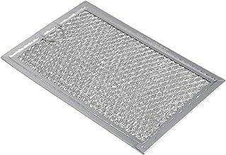 Mxfans WB06X10309 - Filtro de grasa para microondas (19,3 x 12,8 x 0,2 cm), color plateado