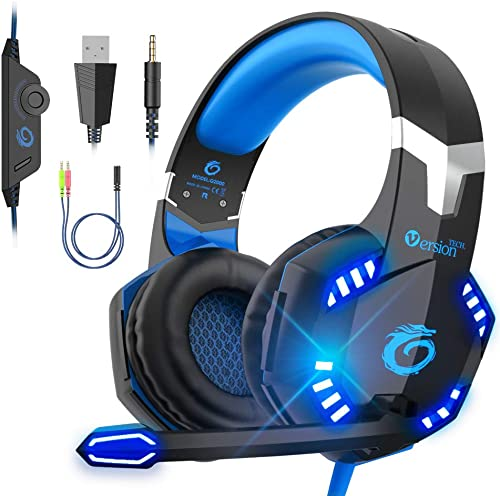 VersionTECH. G2000 Pro Gaming Headset PS5 PS4 Headphones Xbox One Game Stereo Earphones with Microphone, Volume Contr...