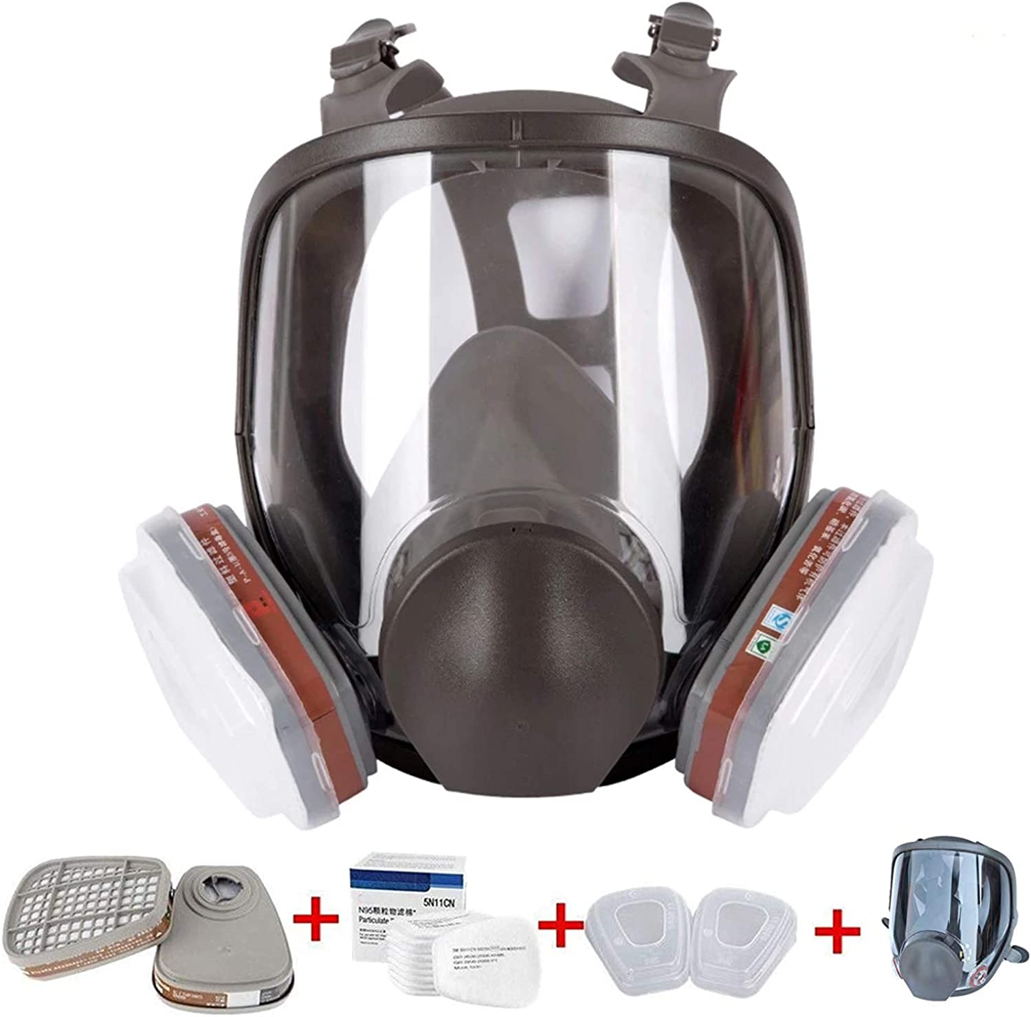 15in1 Full Face Max 44% OFF Respirator Reusable Wide View Popular shop is the lowest price challenge of Field