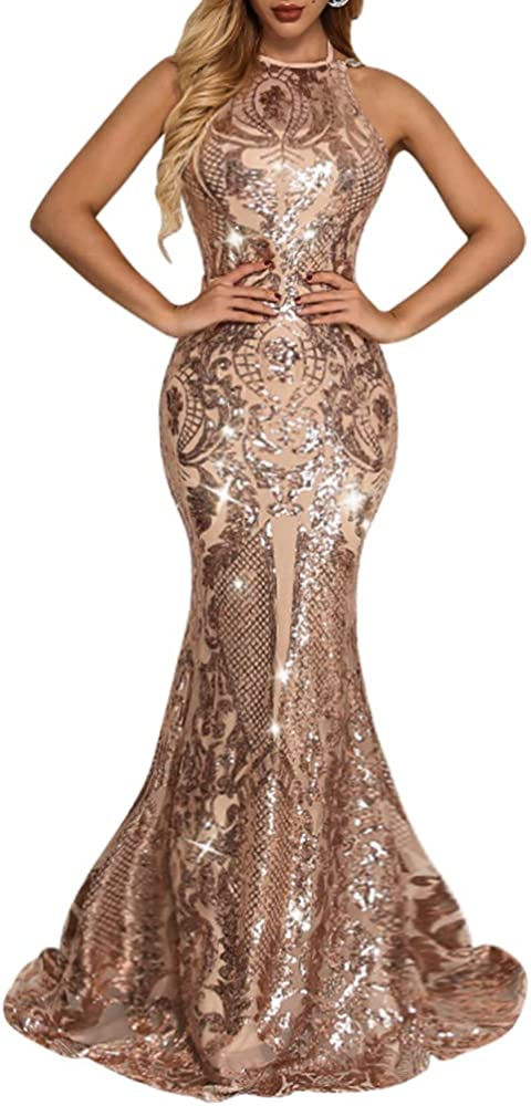 Yissang Women's Floral Colorado Springs Cheap sale Mall Sequined Wedding Mermaid Dress Evening Br