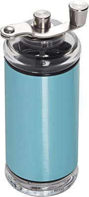 Copco Compact Manual Adjustable Coffee Grinder, 6.5-inches, Aqua