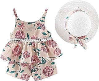 Vêtement Ensemble Bébé Fille Haut Shorts Florale Bandeau Photographie Décor