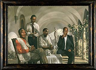 HSE Framed The Pioneers Poster Mandela - Malcolm X - Obama - Martin Luther King, Finished Size: 40x28