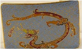 Vintage Cloisonne Dragon Belt Buckle curved Rare Unusual Color