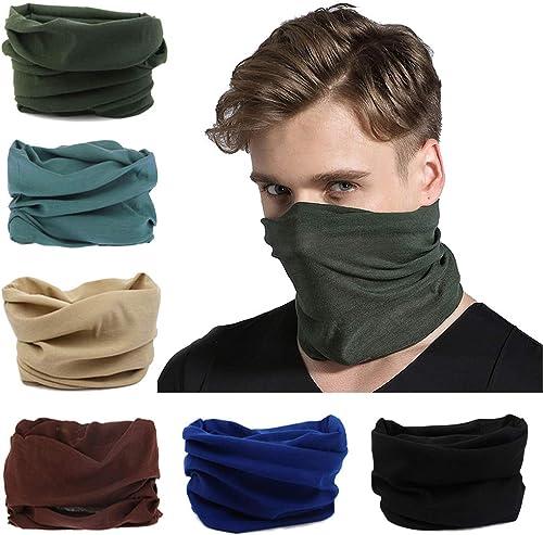 Toes Home 6PCS Outdoor Magic Headband Elastic Seamless Bandana Scarf UV Resistence Sport Headwear Boho Series for Yog...