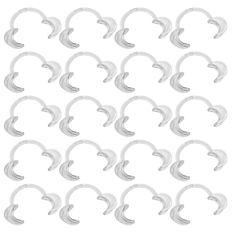 いつでもグリル固執EZGO 20個パック歯科 C型 開口器 口オープナー マウスオープナー 開口マウスオープナー C型ホワイトニング口の開創器 S M L (20L)