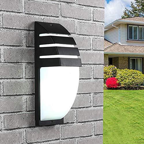 Diseño simple moderno Elegante interior o al aire libre Impermeable IP65 HollowOut Aluminio con forma de arco 8W Luz de pared LED para puerta delantera Jardín Pasillo Balcón Patio (luz fría negra)