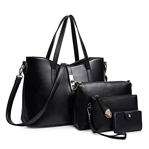 0efcc3a61e88c YTL Women Fashion Synthetic Leather Handbags+Shoulder Bag+Purse+Card Holder  4pcs Set