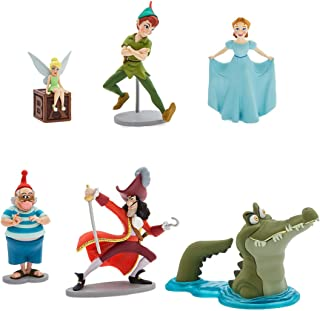 Disney Peter Pan 65th Anniversary Pvc Figurine 6 Figure Set Play set