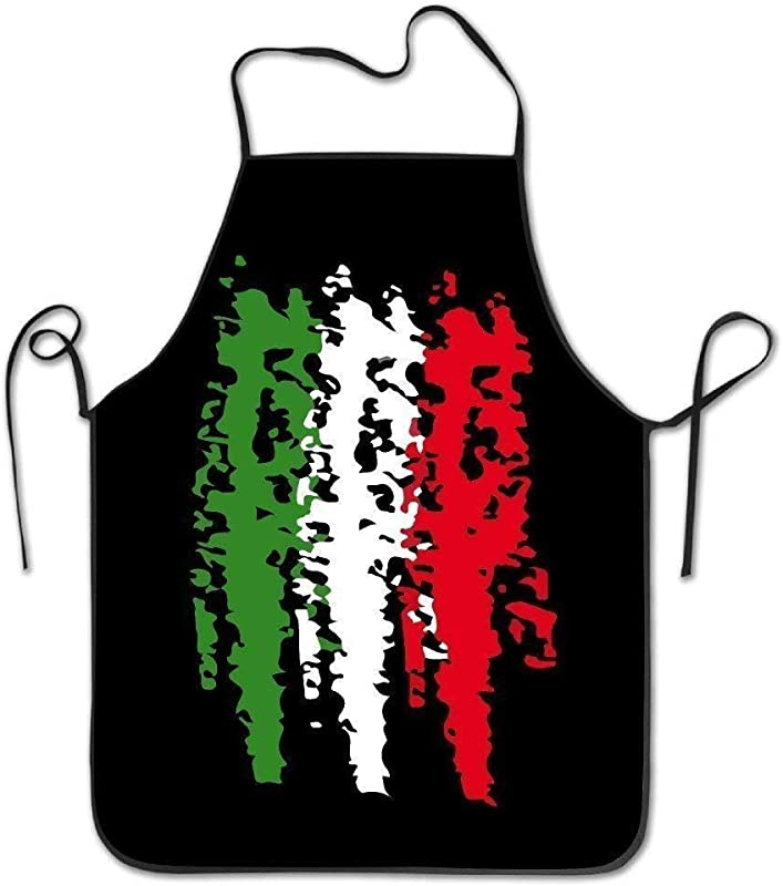Italia Italy Italian Flag Fashion Casual Painting Cooking Working Apron Adjustable Strap Great Home Present For Father Mother Wife
