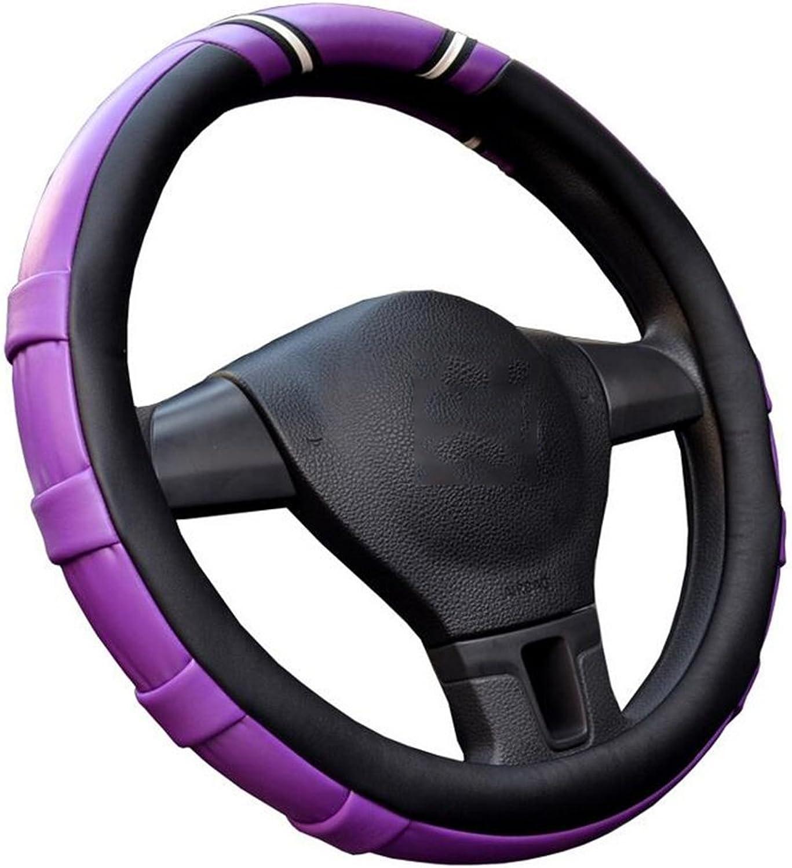 Auto Accessories 2018 New Car Steering Wheel Cover Four Seasons Universal Set Fashion Bump AntiSlip Creative Design, 36cm, Purple