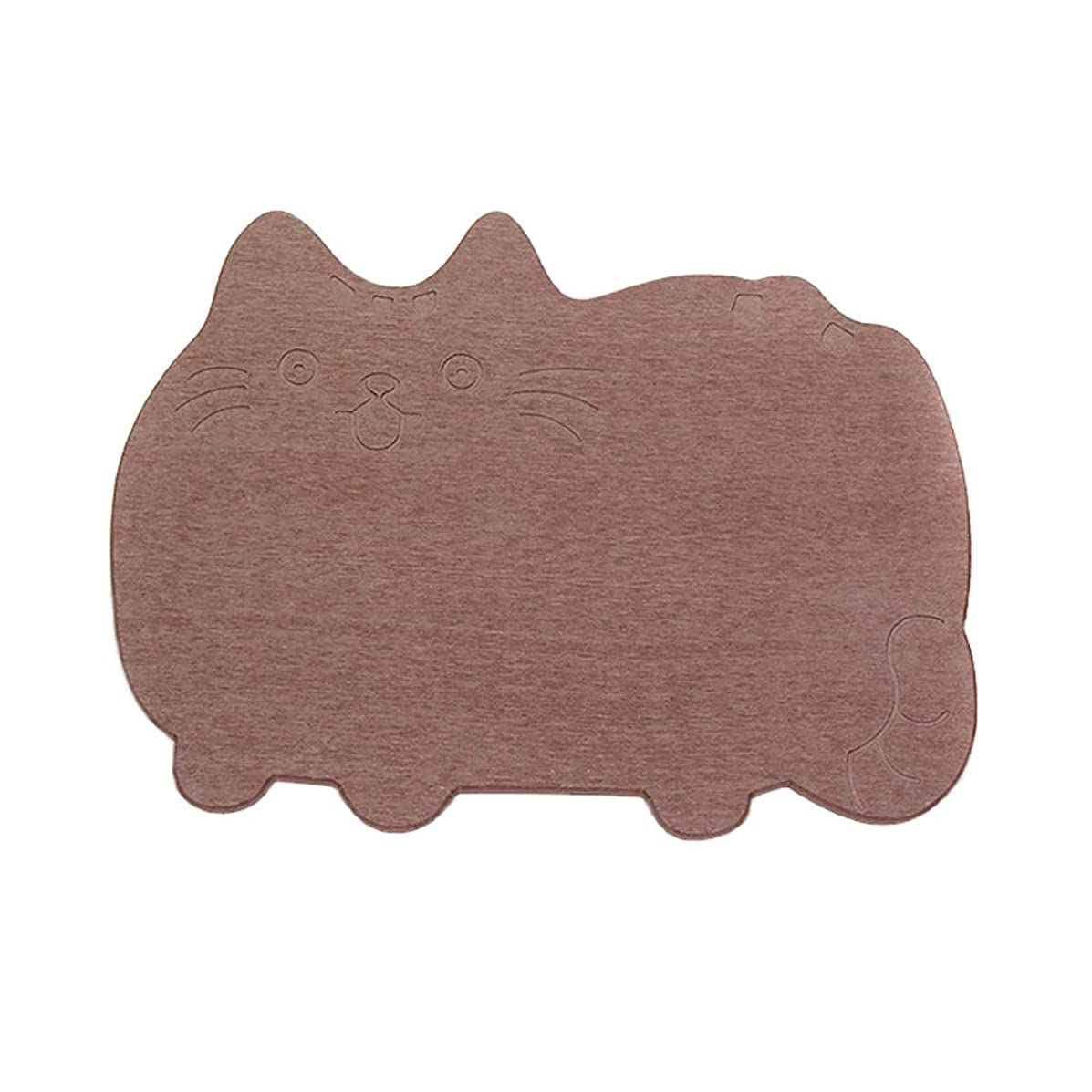 ヒロイン知覚できるミニチュア珪藻土バスマット 足ふきマット お風呂マット 速乾 バスマット 滑り止めマット 消臭 速乾 防カビ 防ダニ 抗菌?約30x40x0.9cm 多色選択可能 かわいい 猫