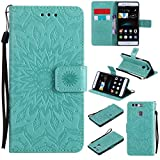KKEIKO Huawei P9 Case, Huawei P9 Flip Leather Case [with