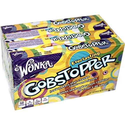 Wonka Everlasting Gobstopper 4 x 141,7g Packung (Bonbons mit Farb- & Geschmackswechsel)