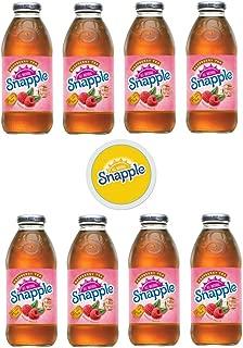 Snapple Iced Tea, 16oz Bottle (Pack of 8, Total of 128 Fl Oz) sticker included (8 Raspberry Tea)