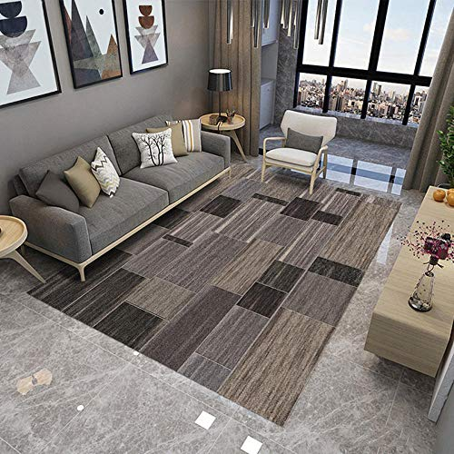 RUGMRZ moderne stijl mooie en sfeervolle woonkamer tapijten Bruin hout plank patroon vintage ontwerp baby kan tapijt spelen