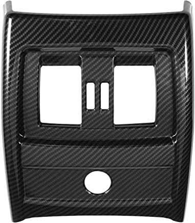 Keenso Carbon fiber Style Rear Seat Air Conditioning Vent Cover Trim, ABS Rear Vent Cover