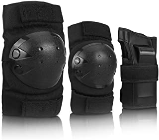 BeyongGear Knee Pads for Kids/Adult Elbows Pads Wrist Guards 3 in 1 Protective Gear Set for Skateboarding, Roller Skating, Rollerblading, Snowboarding, Cycling(S/M/L)