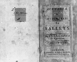 1699 Photo Title page and page opposite inscribed by John Evelyn to Sir Christopher Wren, of John Evelyn's Acetaria, a Discourse of Sallets. 1699