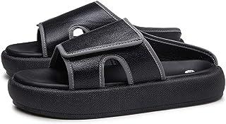 B/H Sneaker Extra Larghe,Ciabatte con Plateau in Velcro, Sandali Regolabili-Nero_39,Unisex Diabetico Edema Scarpe