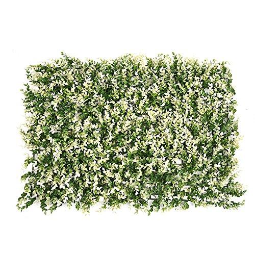 Kunstpflanze Heckenschere Panel Faux Greenery Sichtschutzmatten kunststoff Heckenschere Hintergrund Greenery Matte Fake Zaun, Mauer Decor von yunhigh Stil 3