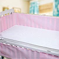 love+djl Crib Bumper Newborn Crib Bumper Breathable Baby 3D Mesh Crib Liner Cot Infant Bedding Sets Baby Bumper Bed Bedding Accessories@Pink