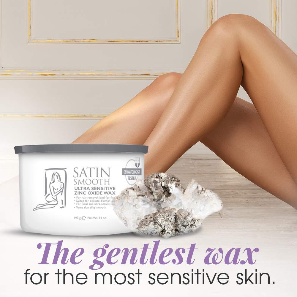 Satin Smooth Zinc Oxide Hair Removal Wax 14oz.