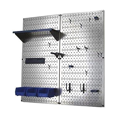 Wall Control 30-WGL-200 GVBU Galvanized Steel Pegboard Tool Organizer, Blue