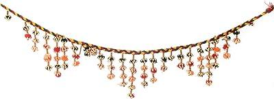 eCraftIndia Decorative Bandarwal Cotton Laces Door Hanging (95 cm x 1 cm x 15, BAND114)