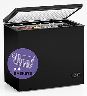 ADT Chest Freezer Free-Standing Top Door Freezers 6.8℉ to -4℉ (Black, 7.0 Cubic Feet)