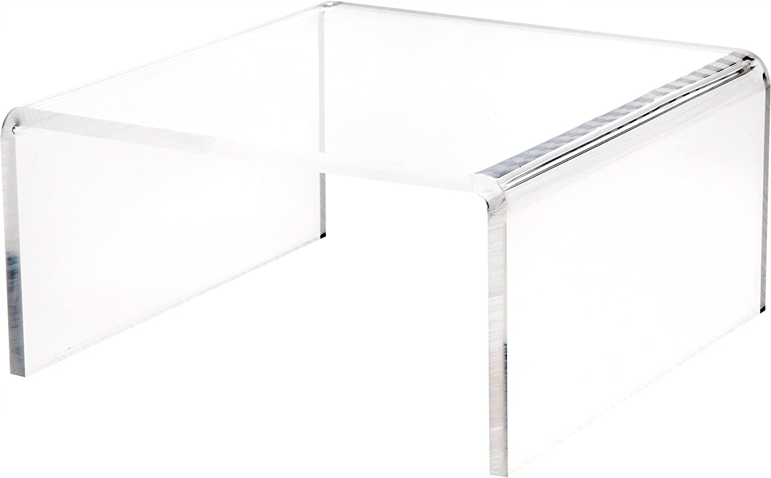 Plymor Brand Clear Acrylic Short Square Riser, 5  H x 10  W x 10  D (3 8  Thick)