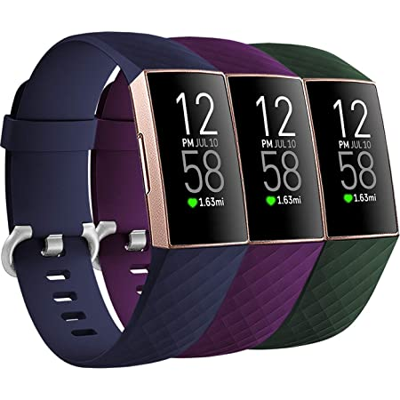 New Fitbit Charge 3 S//P Purple Sport Band Fitbit   Free Shipping      Band Only