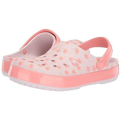 Crocs Crocband Seasonal Graphic Clog (Barely Pink/Melon) Clog/Mule Shoes